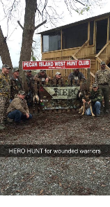 Hero Hunt Veterans at Pecan Island West Hunt Club